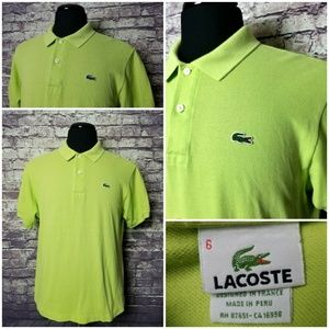 LACOSTE SIZE 6 LIME GREEN